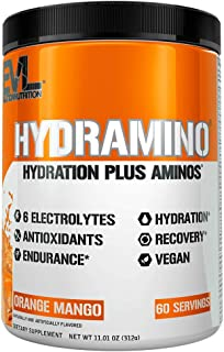 HYDRAMINO Complete Hydration Multiplier, All 6 Electrolytes, Vitamin C & B, Fluid Boosting Aminos, Coconut Water, Enduranc...