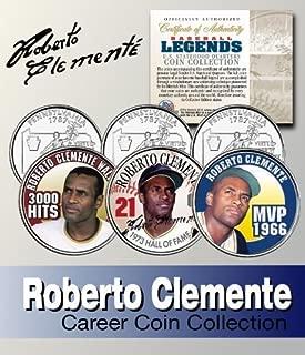 Baseball Legend ROBERTO CLEMENTE Statehood Quarter Colorized 3-Coin Set LICENSED