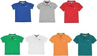Official Brand Slazenger Plain Polo Shirt Boys Tops T-Shirt Outerwear
