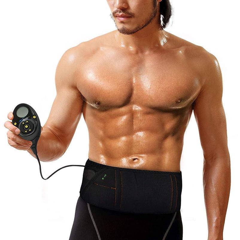 平日敷居面電気Slim身ベルト、Slim身マシンフィットネス脂肪削減多機能産後腹部フィットネスベルト10モード0-150運動強度マッサージベルト