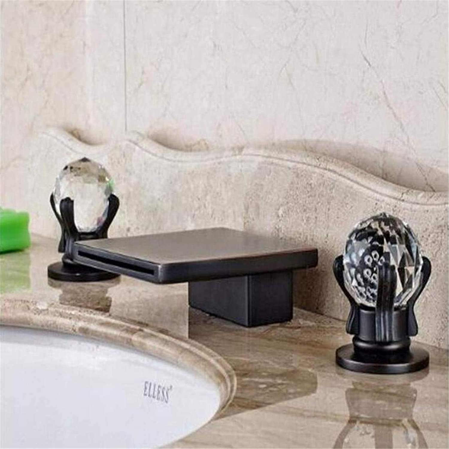 Faucet Chrome Brass Retro Faucet Bathroom Faucetoil Rubbed Bronze Double Handles Bathroom Basin Sink Water Tap Deck Mounted