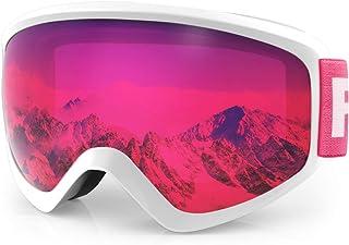 comprar comparacion findway Gafas Esqui Niño 5~16 Años Mascara Esqui Niño Gafas de Esqui Niño Niña OTG Ajustable para Niños Anti-Niebla Protec...