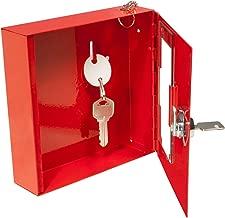 BARSKA Breakable Emergency Key Box, Red, Small