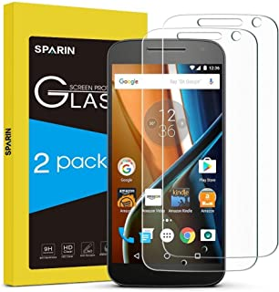 SPARIN Moto G4 Screen Protector, 2 Pack Tempered Glass Screen Protector Only Compatible..