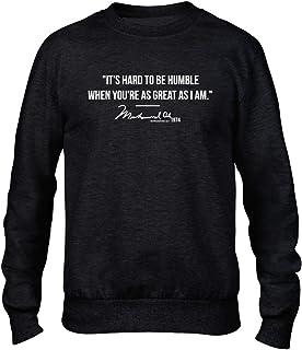 Ali Quote Hard to Be Humble Boxing Men's Black Crew Sweatshirt Jumper