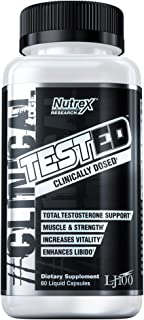 Nutrex Research Tested | Testosterone Booster, Stamina, Strength, Energy, Recovery | Tongkat Ali, LJ100, Eurycoma Longfolia, Longjack | 60 Count