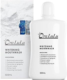 OraLuLu [医薬部外品] ホワイトニング マウスウォッシュ (黄ばみ/口臭ケア/虫歯/歯周炎/歯肉炎予防) 清涼剤成分配合 500ml
