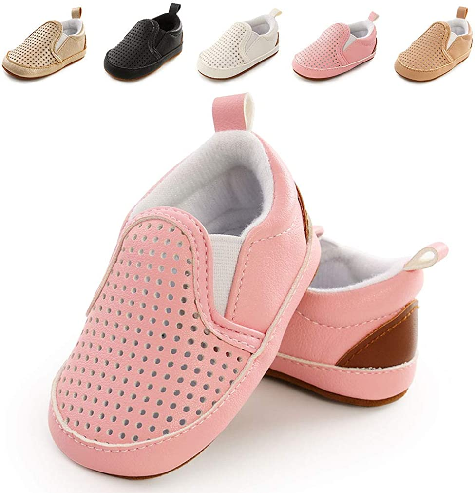 Infant Baby Boys Girls Shoes Canvas Toddler Sneakers Soft Sole Slip On Moccasins Newborn First Walker Crib Shoes