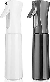Hair Spray Bottle Empty Plastic Trigger Spray Bottle Refillable Fine Mist Sprayer Bottle 2 Pack 10oz /300ml for Hair Styli...