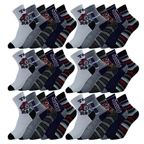 Unbekannt 10 Paar Kinder Socken Größe 27-39 zur Auswahl (30-33)