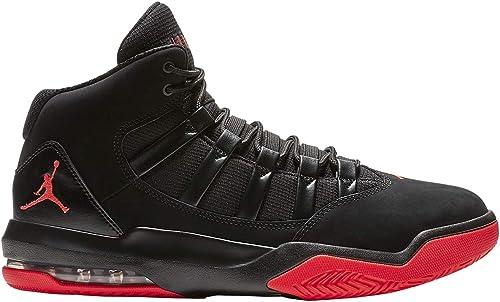 Jordan Hombre MAX Aura Synthetic Leather schwarz Infrarot 23 Entrenadores 44.5 EU