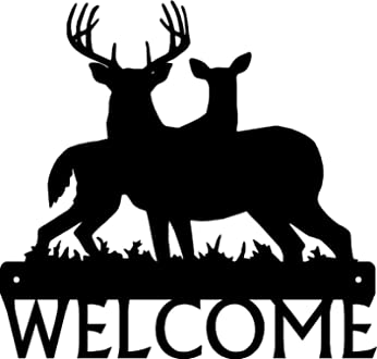The Metal Peddler Eagle Welcome Sign Size 12 x 8