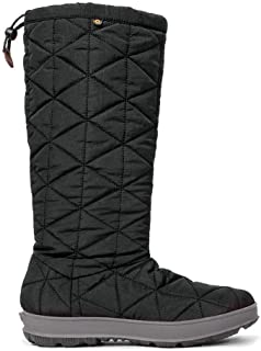 BOGS Women's Snowday Tall Waterproof Winter Boot Black 8 Medium US