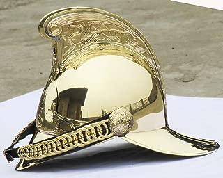 THORINSTRUMENTS (with device) COLLECTIBLE VICTORIAN MERRYWEATHER BRASS MFB FIREMAN FIRE BRIGADE HELMET