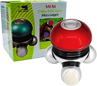 Skyland Portable Handheld Mini Massager with Colorful Perfect Light for ALL Over the Body -EM-9169-R