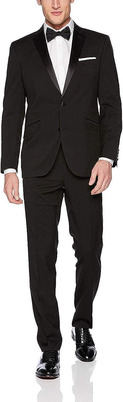 Kenneth Cole REACTION Men's Techni-Cole Slim Fit Stretch Tuxedo