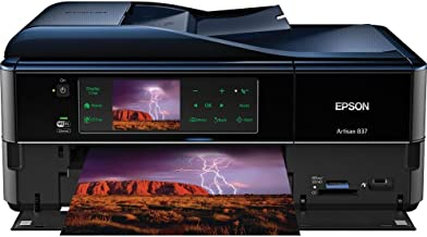 Epson Artisan 837 USB/Ethernet/Wireless-N Color Inkjet Scanner Copier Fax Photo Printer w/Card Reader & 3.5