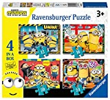 Ravensburger Puzzle, Minions, 4 Puzzle in a Box, Puzzles para Niños, Edad Recomendada 3+,...