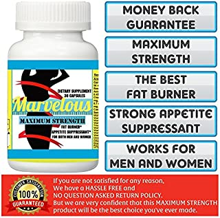 1 BOTTLE (30 CAPSULES) MARVELOUS SLIMMING MAXIMUM STRENGTH WEIGHT LOSS SUPPLEMENT.