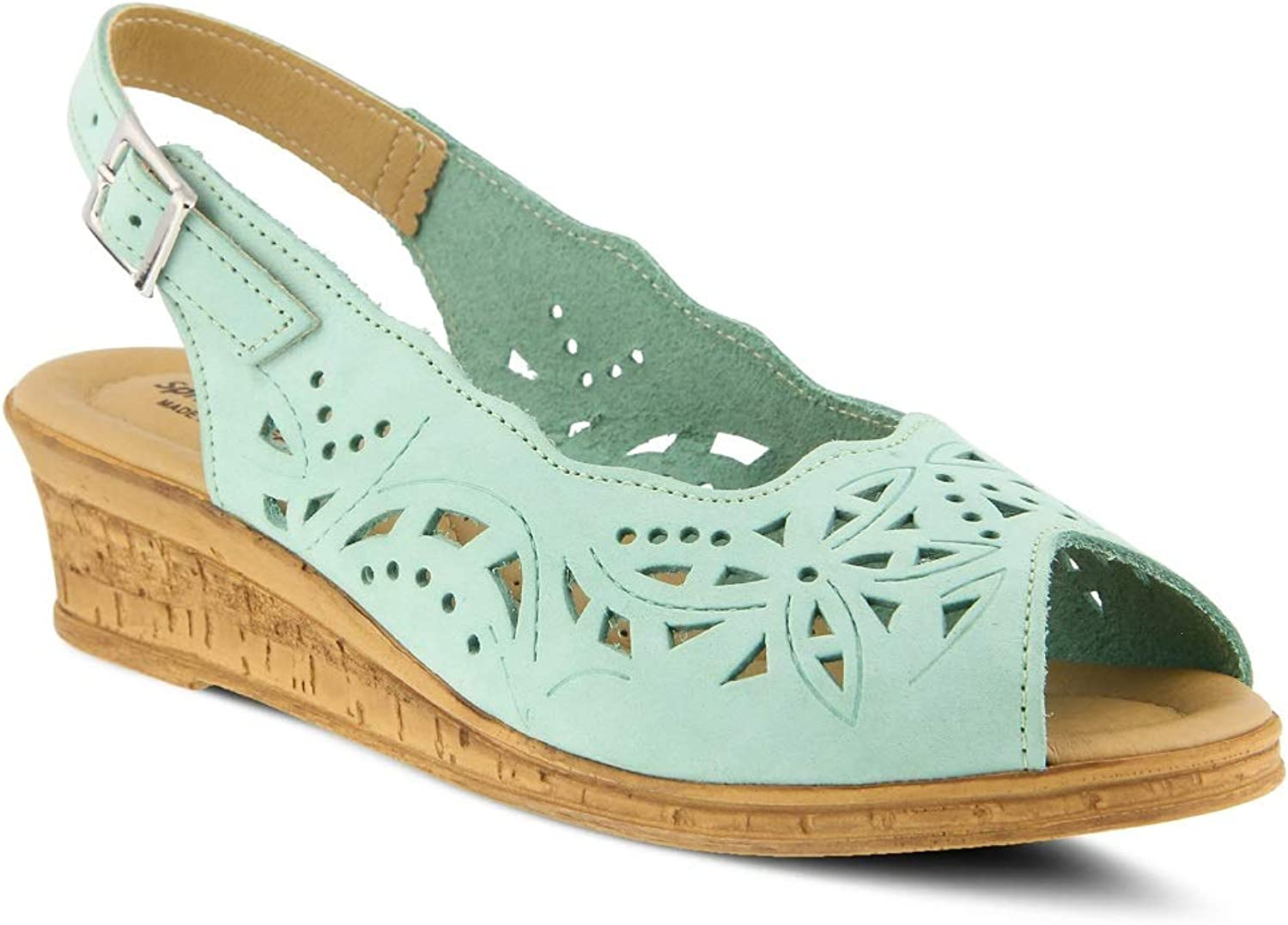 Spring Step Women's Orella Sandals   color Mint Green  Leather Sandals
