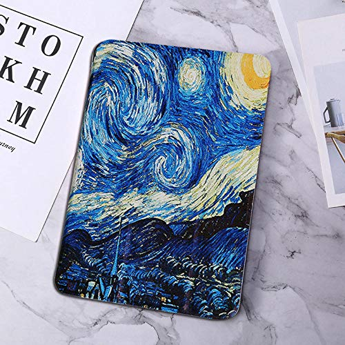 para Huawei MediaPad T5 10 AGS2-W09 / L09 / L03 / W19 10.1 Estuche Funda de Tableta de Cuero de PU Pintada para T5 10 Estuche Funda Inteligente-Van Gogh