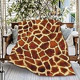 Naiagiri Animal Kingdom Giraffe Skin Print Sofa Throw Blanket Flannel Super Soft Fleece Beach Picnic Bedspread Home Decor All Season for Baby Dog Bed Couch Living Room Small 50x40In (Throw Kids