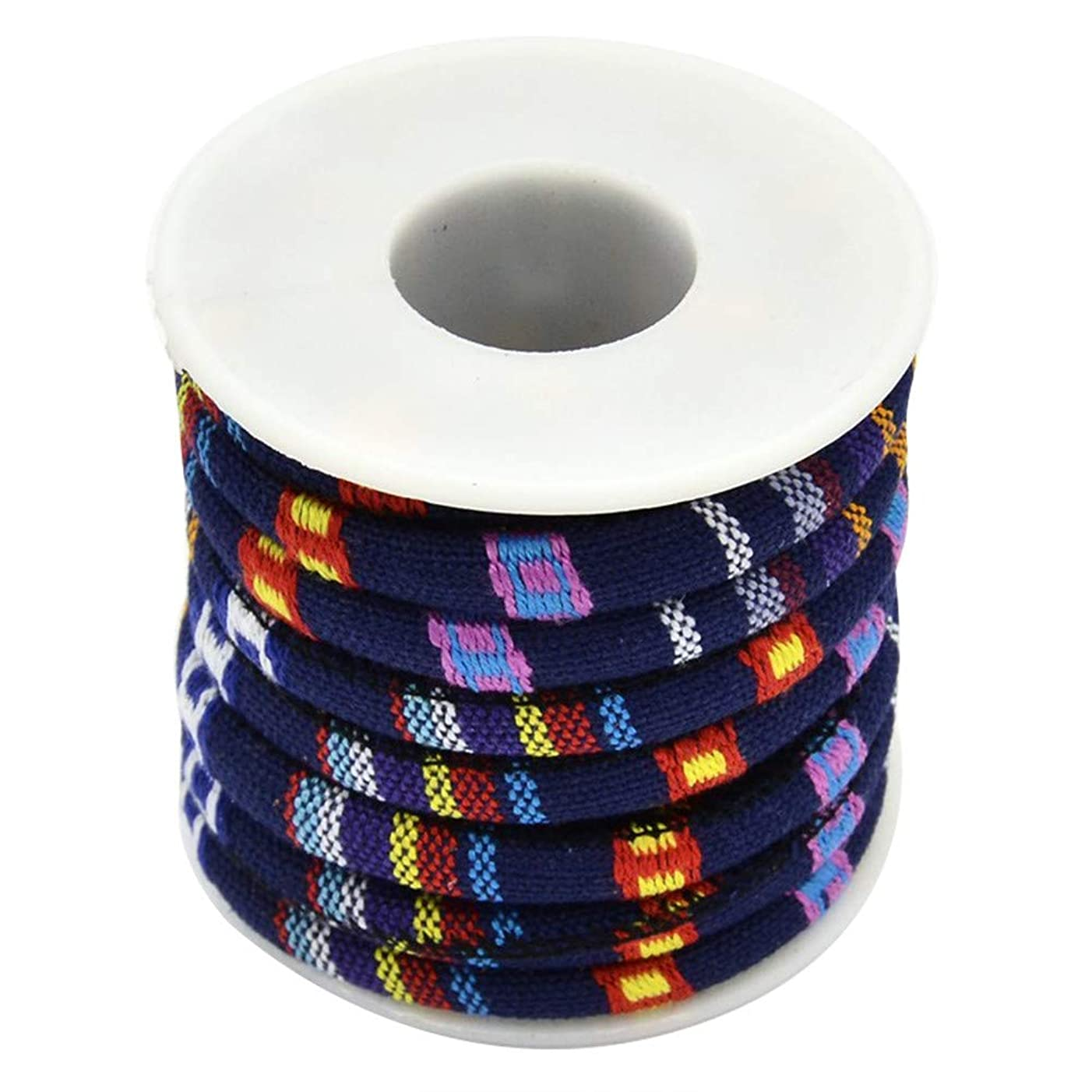 ARRICRAFT 2 Rolls Rope Cloth Ethnic Cords 6mm Colorful DIY Decoration Threads and Cords for Bracelet and Necklace Making, About 5yards/roll