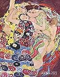 Gustav Klimt Agenda Annuale 2021: La Vergine | Diario Settimanale per Organizzare Giorni Occupati | Art Nouveau | Pianificatore Giornaliera 2021