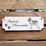 Cartel perro « perro noruego » placa para puerta con grabado personalizado y diseño – Tamaño aprox. 20 x 6,7 x 0,5 cm – Shabby decoración Nombre – Perros