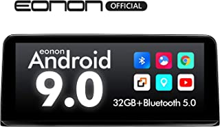 Single Din Car Stereo Android 9.0 Car Radio, Eonon 10.25 Inch Head Unit, Support Android Auto/Apple Carplay/Bluetooth 5.0/WiFi/Fast Boot/Backup Camera/OBDII Compatible with iDrive System -GA9303NB