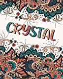 CRYSTAL GIFT: Beautiful Crystal Name Journal (Lined Notebook - Card Alternative)