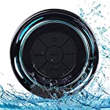 Altavoz Bluetooth Ducha Impermeable, Waterproof Bluetooth Speaker with FM Radio, Copa de succión...