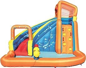 LWZ Pequeño Parque Infantil con tobogán de Agua al Aire Libre, Gran Surf, Windsurf, niños, Cama de Salto, baño Multifuncional, Piscina Inflable, Patio Interior y Exterior
