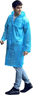 PQZATX Fashion Eva Raincoat Waterproof Raincoat Transparent Camping Waterproof Raincoat Blue