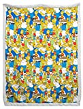Jay Franco The Simpsons Family Party Sherpa Back B