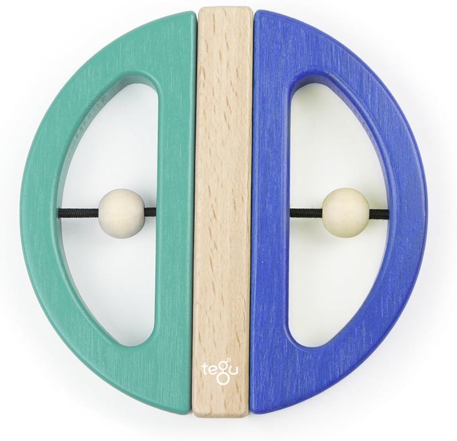 Many popular brands Tegu Max 64% OFF Swivel Bug Magnetic Building Block Top Big Teal Blue Set