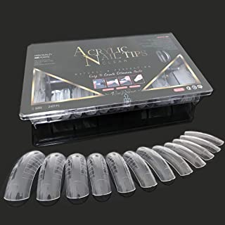 240PCS Dual Forms Nail Mold for Poly gel UV Gel 12 Size With Scale