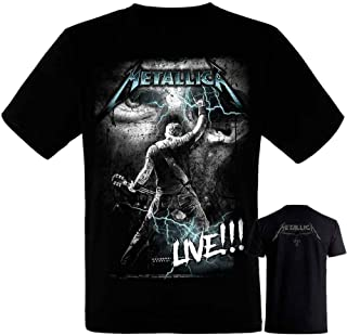 Metallica-James Hetfield - Camiseta Negra Hombre Manga Corta - Metallica Tshirt