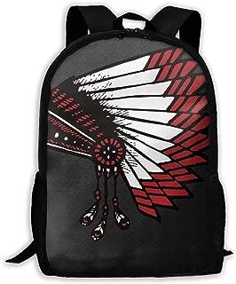 Laptop Backpack American Indian War Zipper College Bookbag Daypack Travel Rucksack Gym Bag For Man Women