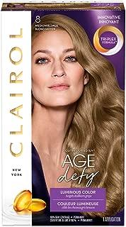 Clairol Age Defy Permanent Hair Color, 8 Medium Blonde, 1 Count
