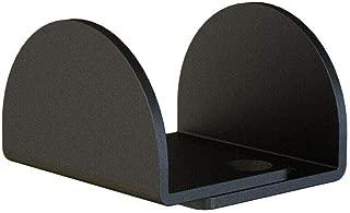Matte Black Floor Guide Floor Mount Sliding Barn Door Hardware Up to 1-13/16