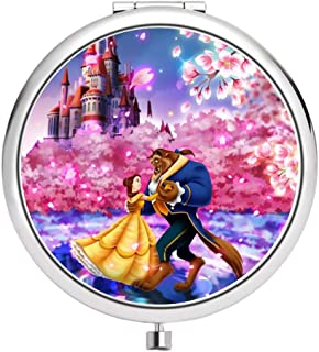 Disney COLLCTION Compact Makeup Mirror Circular Double Mirror Belle Disney Beauty and The Beast