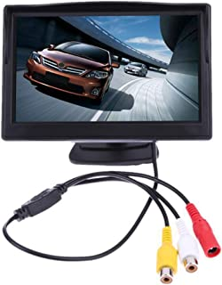 Backup Camera Monitor,12V 5Inch Car TFT LCD Display,HD Night Vision Monitor, 2 Way Video Input,800 x 480P,for Car Rearview... photo