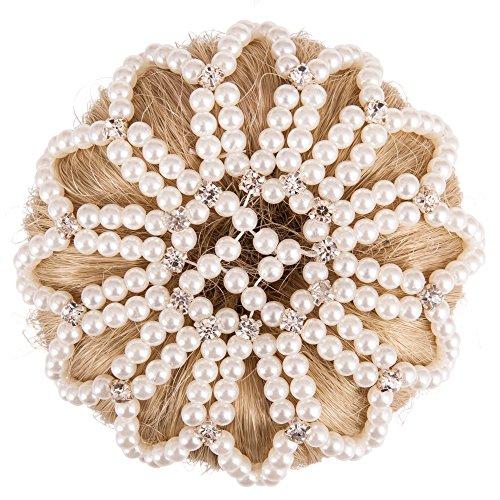 BR Haarnetz Pearl Diamond weiss