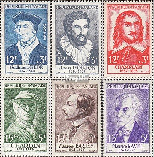 Prophila Collection Frankreich 1094-1099 (kompl.Ausg.) 1956 Berühmte Franzosen (Briefmarken für Sammler)