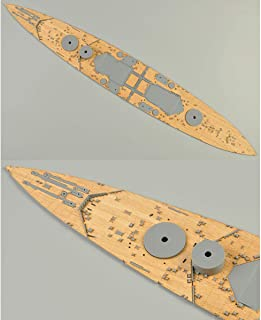 mansum Wooden Deck for Tamiya 78011 1:350 Scale British HMS Prince of Wales Model with Anchor Chain
