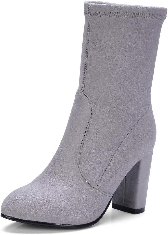 AdeeSu Womens Chunky Heels Urethane Boots SXC03269