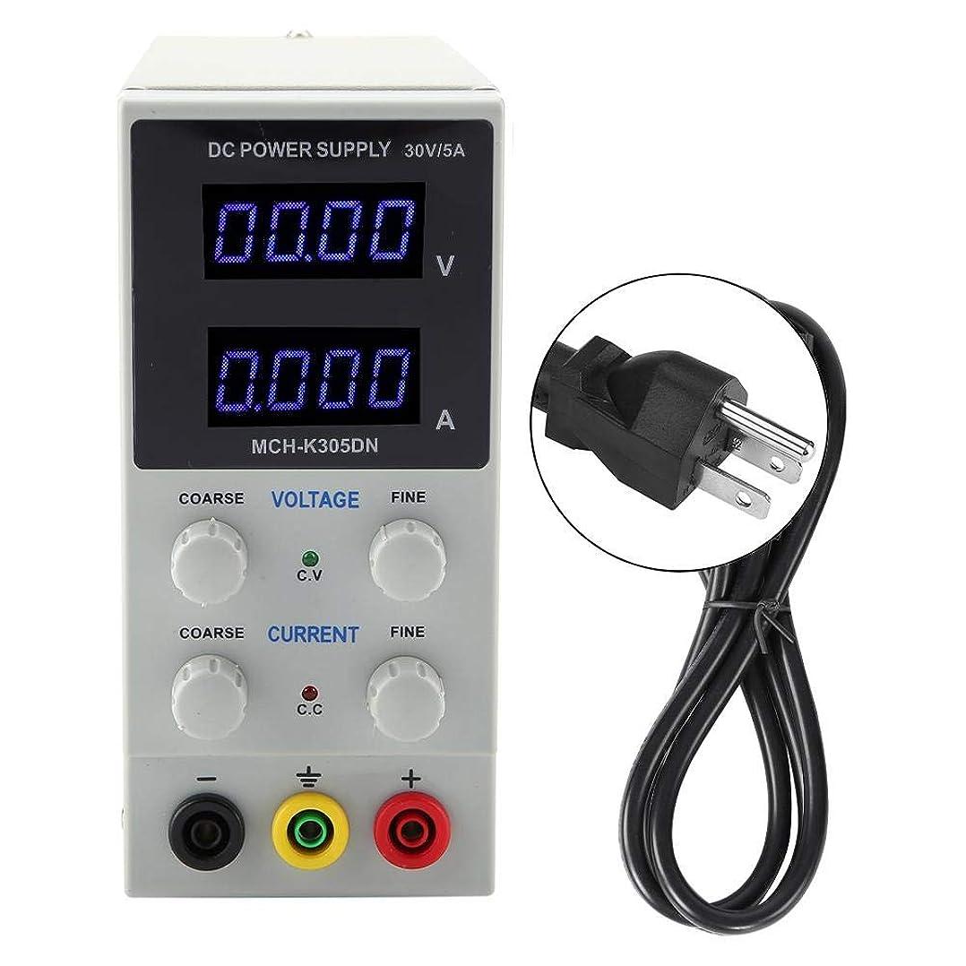レギュラー承認するキルスDC電源 デュアルディスプレイ付きMCH-305DN高精度可変電源30V 5Aデジタルスイッチ(USプラグ110V)