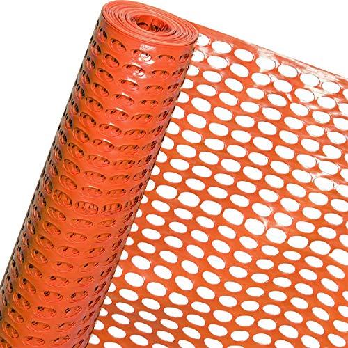 HaGa® Clôture de chantier - 1,2 m - Hauteur : 50 mm x 35 mm - Mailles (vendu au mètre)