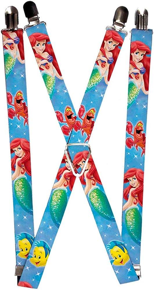 Buckle-Down Suspenders-Ariel, Flounder & Sebastian/Sparkles Blue